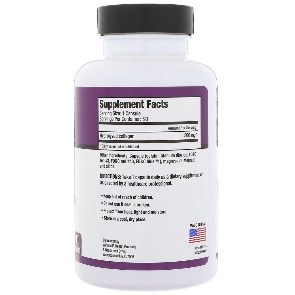 Super Collagen Supplement Facts